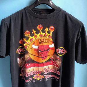 Vintage 1990s Chicago Bulls NBA World Champs sz L